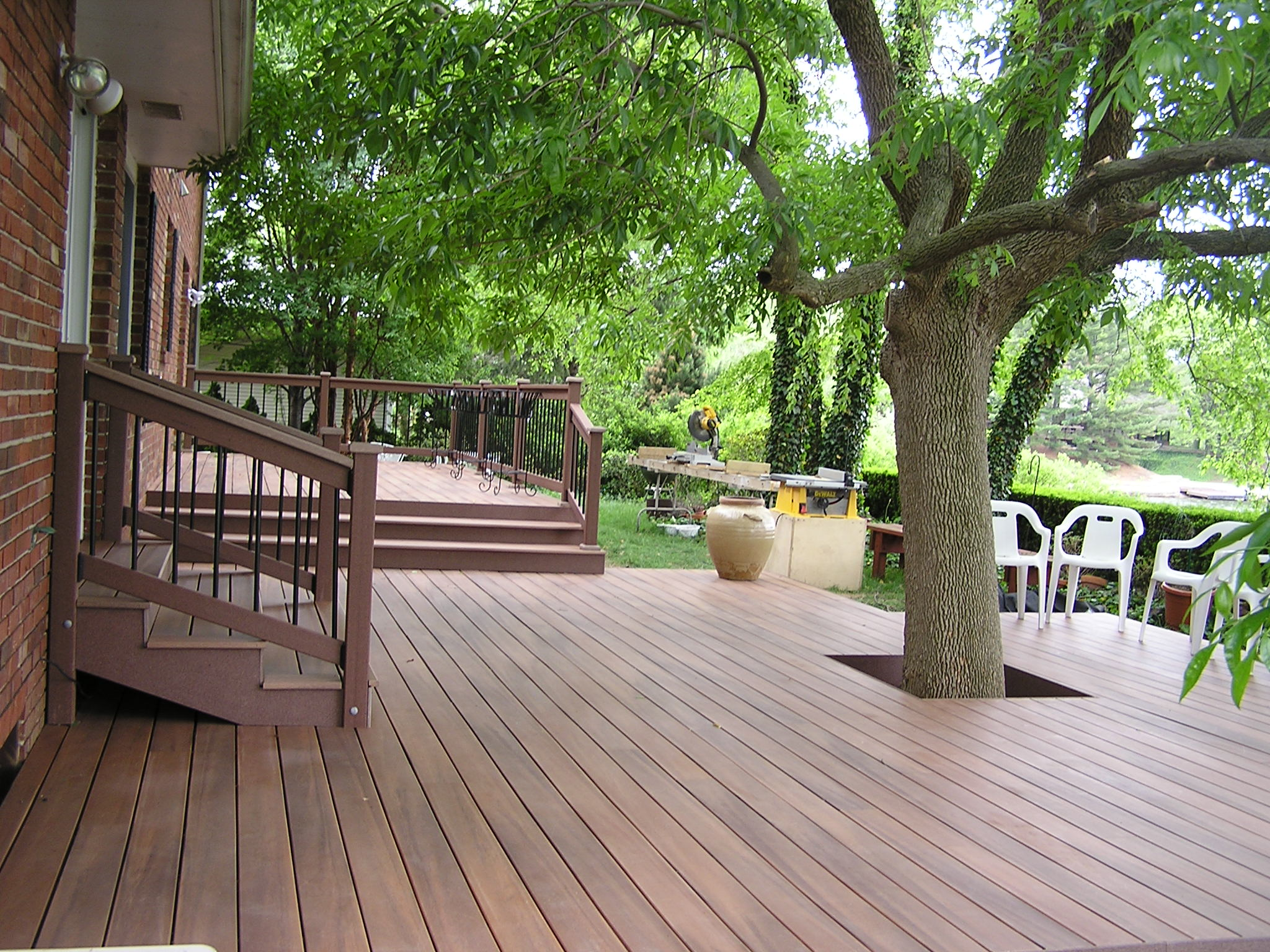 A Deck, a Lake, and a Shade Tree - Fros Carpentry