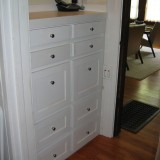 Custom-made shaker style cabinet
