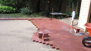 Pavers laid from control lines