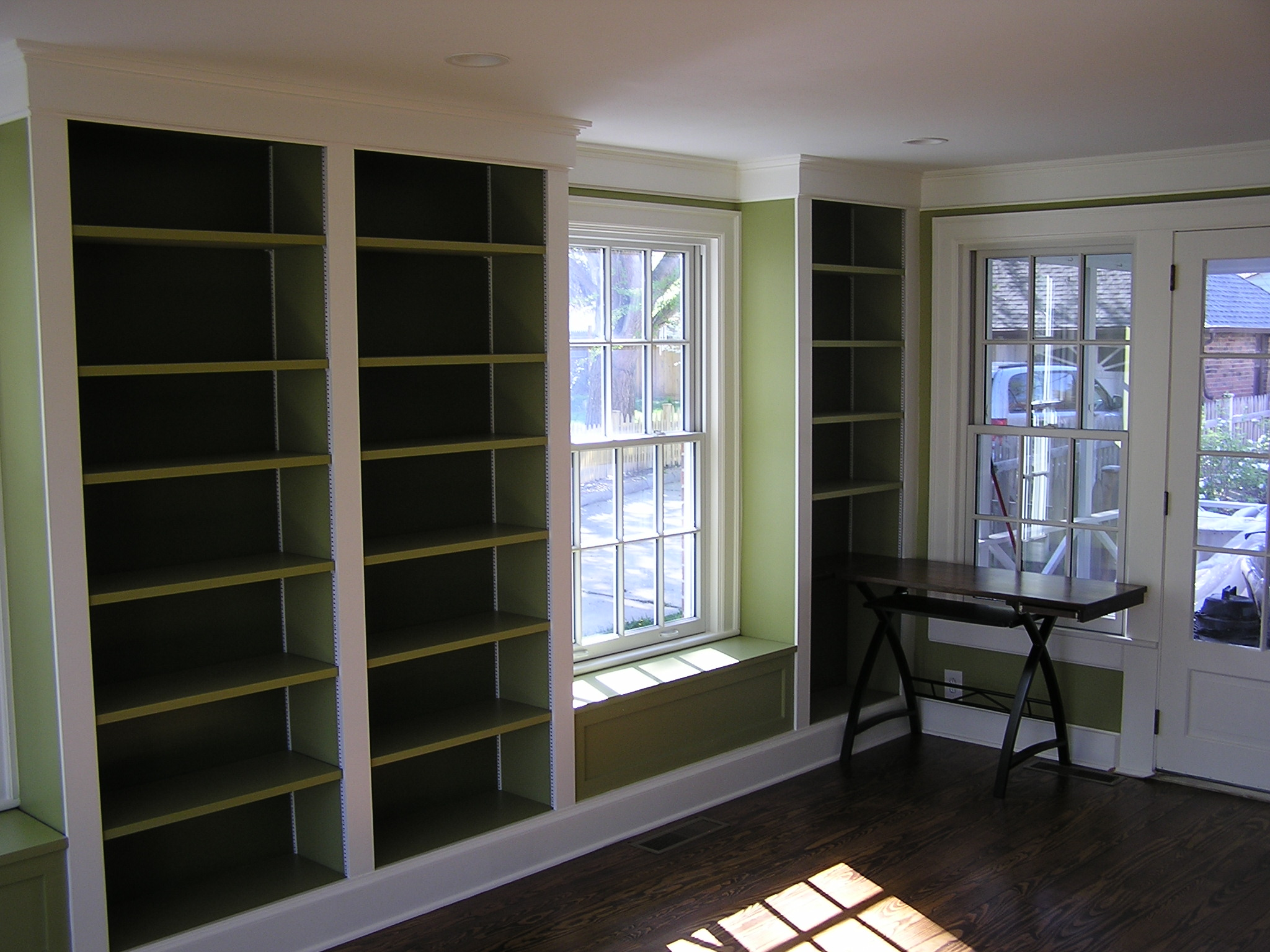 A Crisp, Clean Library Remodel - Fros Carpentry
