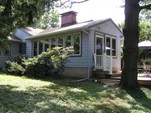 The finished sunroom - side view