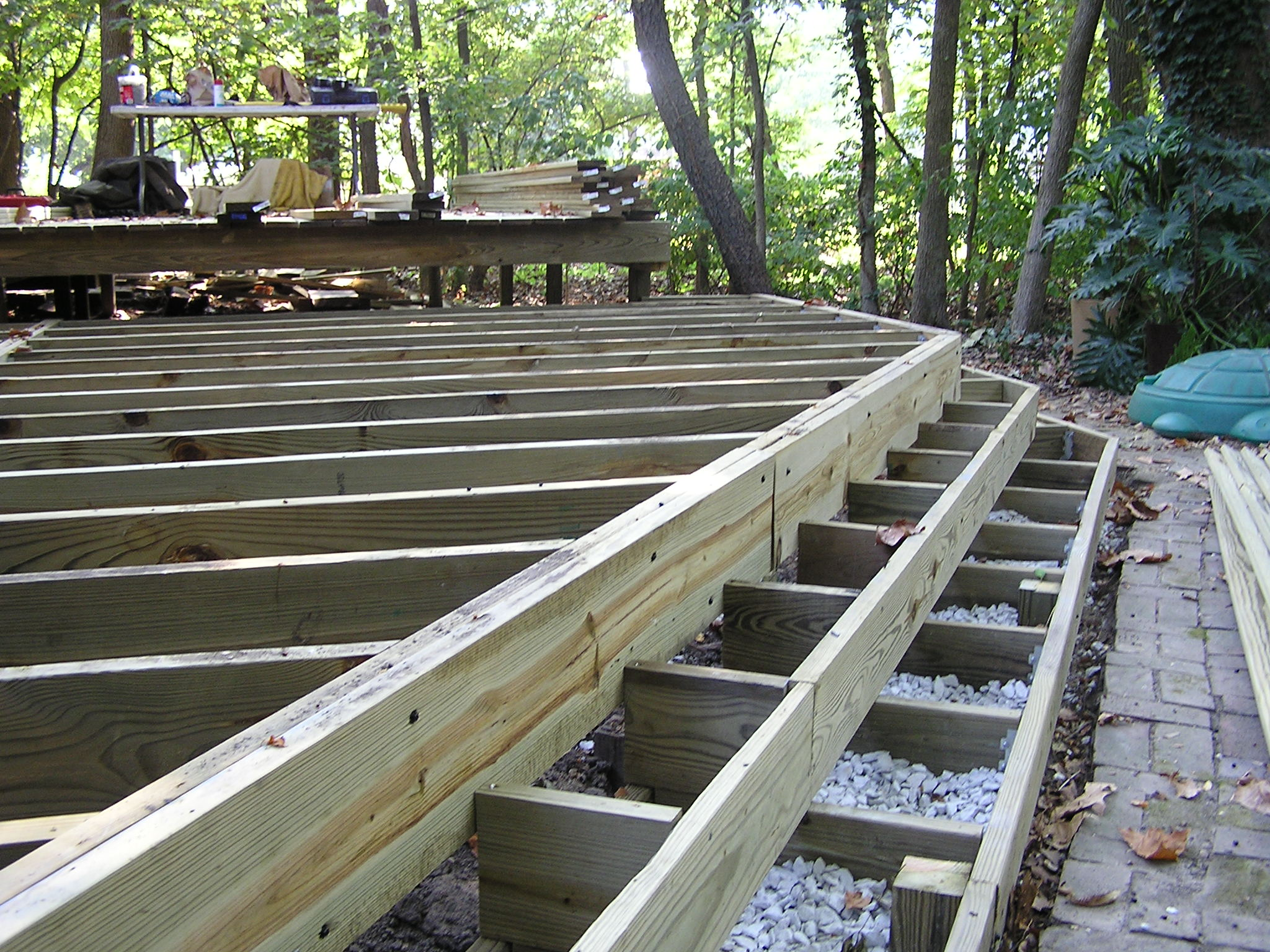 A Deck in the Woods - Fros Carpentry