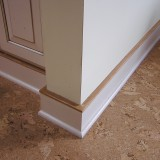 Cork floor and baseboard details