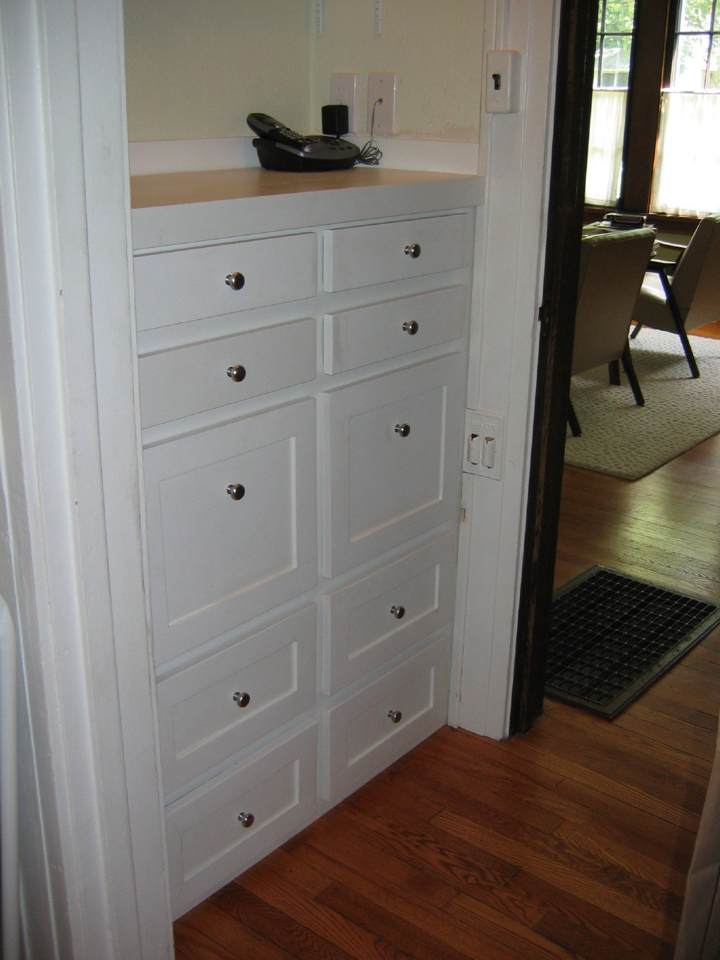 Custom shaker style cabinet fros carpentry - Custom made cabinet ...